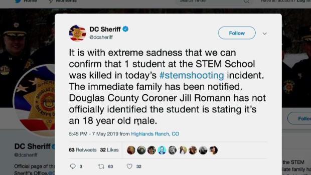 [TLMD - Denver] Confirman un estudiante muerto tras tiroteo en STEM