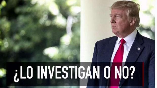 Confusión sobre si Trump está siendo investigado o no