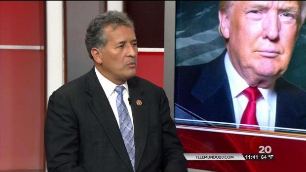 Congresista Juan Vargas habla de la visita de Trump