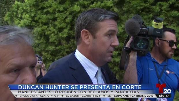 [TLMD - SD] Duncan Hunter se presenta en corte