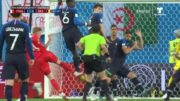 [World Cup 2018 PUBLISHED] Kevin De Bruyne abanica en el área y se pierde el empate