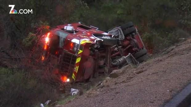 [TLMD - SD] Accidente de camión de bomberos