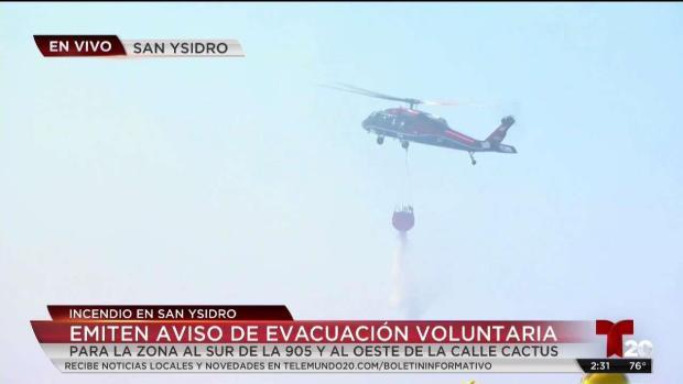 [TLMD - SD] Emiten aviso de evacuación voluntaria #CalienteFire
