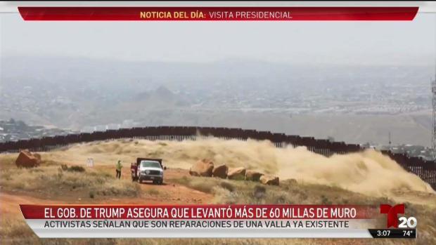 [TLMD - SD] Gobierno de Trump asegura que levantó millas de muro