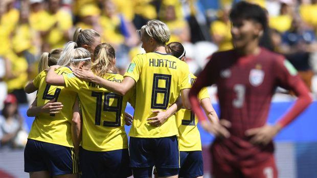 [WWC 2019] Suecia cumple y golea a Tailandia para estar en octavos del Mundial