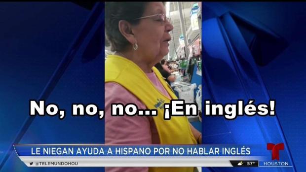 [TLMD - Houston] Habla hispano que se queja de discriminación en Walmart