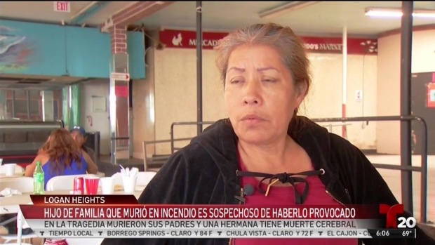 [TLMD - SD] Hijo de familia que murió en incendio es sospechoso