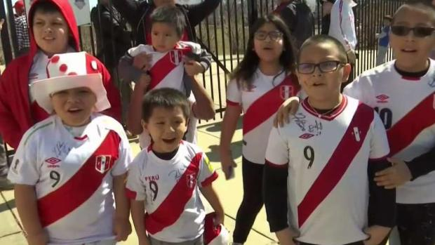 Hinchas peruanos madrugan para recibir a su selección