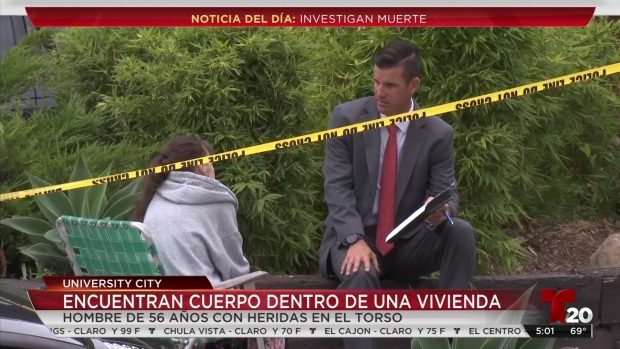 [TLMD - SD] Investigan muerte sospechosa en University City