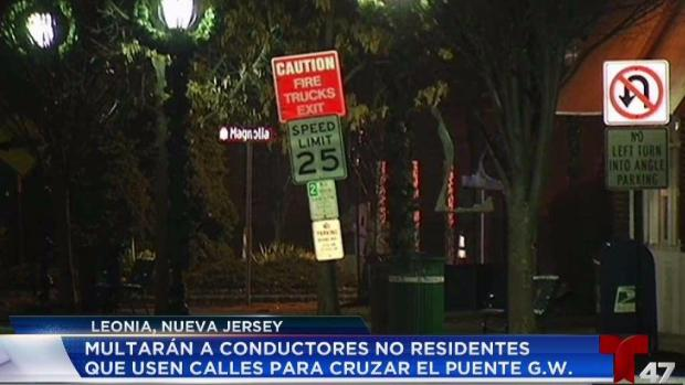 [TLMD - NY] Leonia dará multas si usas sus calles como atajo al GWB