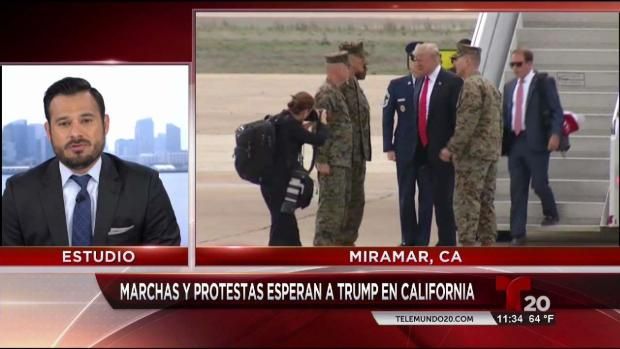 Llegada del presidente Donald Trump a San Diego