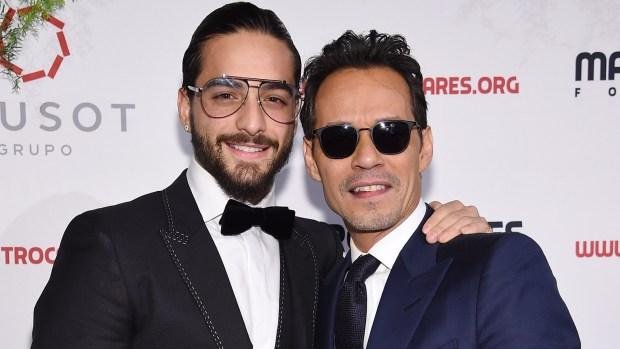 Maluma y Marc Anthony se llenan de besos y halagos
