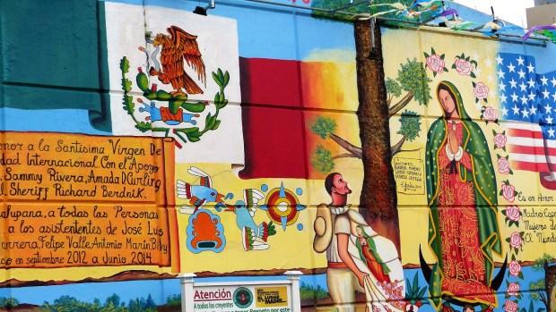 Así era el mural de la Virgen de Guadalupe de Passaic