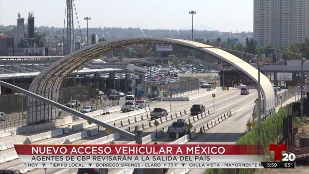 [TLMD - SD] CBP instala nuevas casetas con dirección a Tijuana