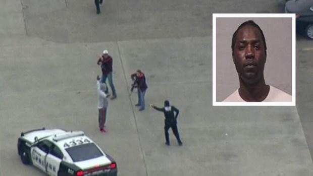 Video muestra momento en el que arrestan a sospechoso en Dallas