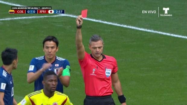 [World Cup 2018PUBLISHED ] Mano en el área de Carlos Sánchez y se lleva la primera roja del Mundial