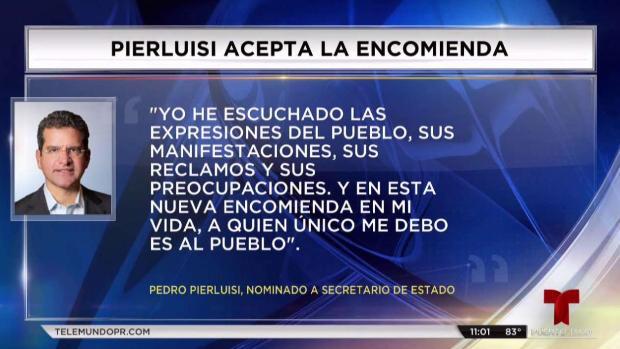 [TLMD - PR] Rosselló nomina a Pedro Pierlusi para secretario de Estado