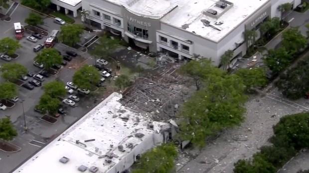 Explosión al lado de un gimnasio en Plantation