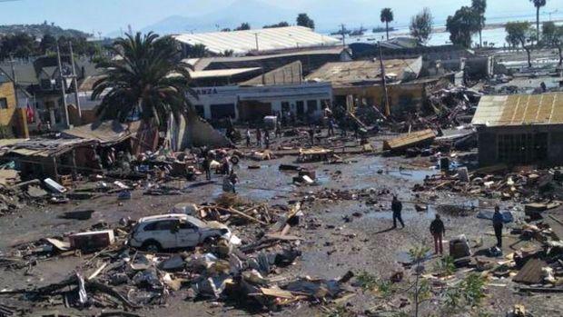 Fotos: Desolación tras poderoso sismo en Chile