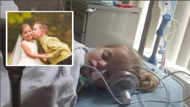 """[TLMD - NATL] Niña de 5 años con medio corazón se """"casa"""" antes de otra cirugía"""