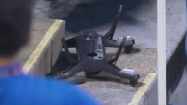Video: Dron se estrella en las gradas del US Open