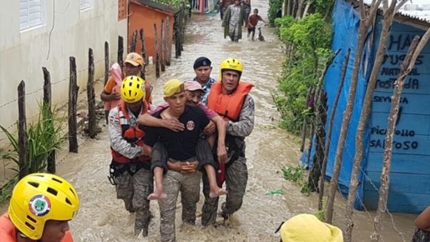 Siguen los estragos por las lluvias en Dominicana