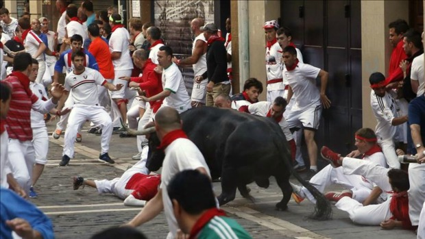 Así son los encierros de San Fermín
