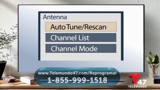 Cómo reprogramar tu TV el 1 de agosto