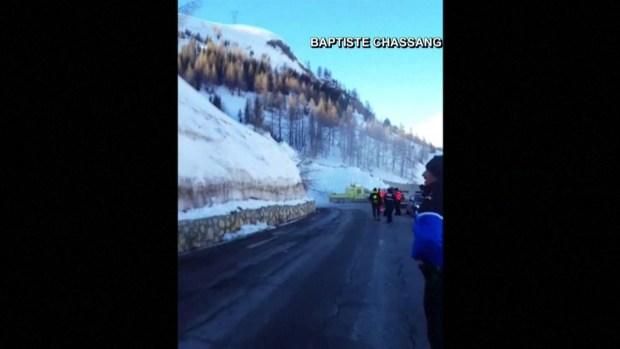 [TLMD - MIA] Escapan de avalancha de nieve en Francia