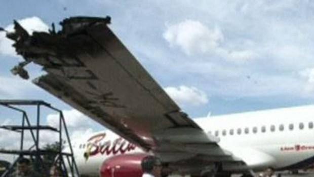 Dos aviones chocan en un aeropuerto