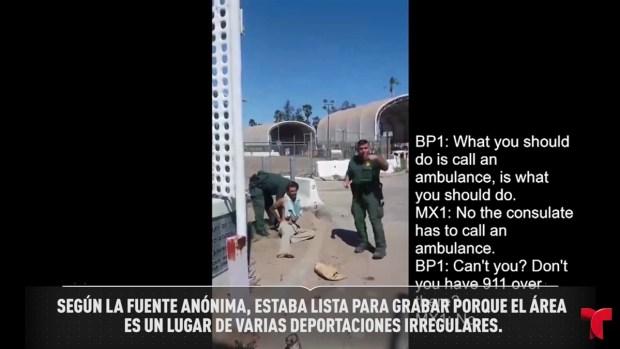 [TLMD - SD] Captan a agentes intentando deportar a hombre herido en Calexico