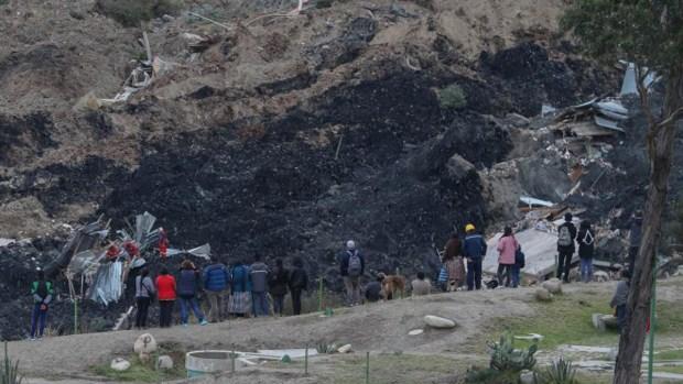 Deslizamiento destruye viviendas en La Paz