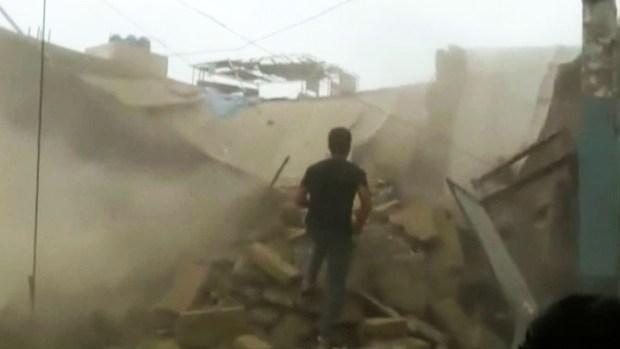 Escalofriante derrumbe de vivienda grabado en video