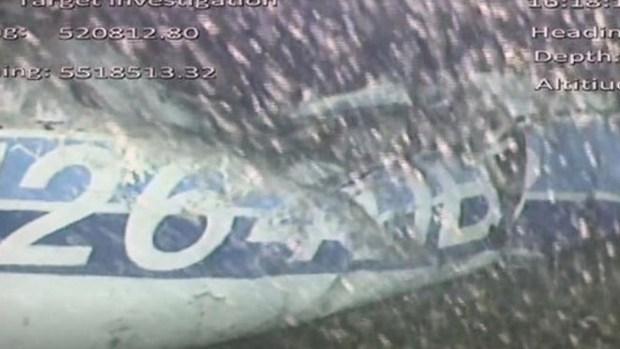 Así quedó el avión siniestrado en el que viajaba el jugador de fútbol desaparecido
