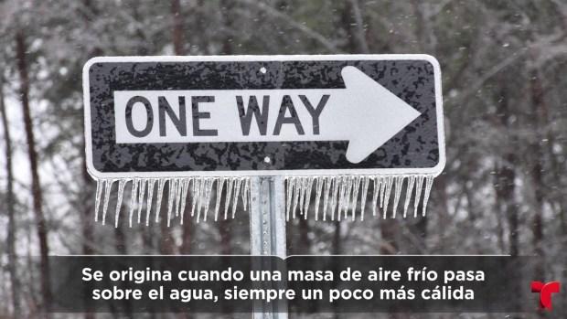 """¿En qué consiste el fenómeno de la nieve """"efecto del lago""""?"""