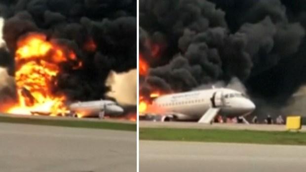 [TLMD - NATL] De cerca: pasajeros huyen despavoridos de avión cubierto en llamas
