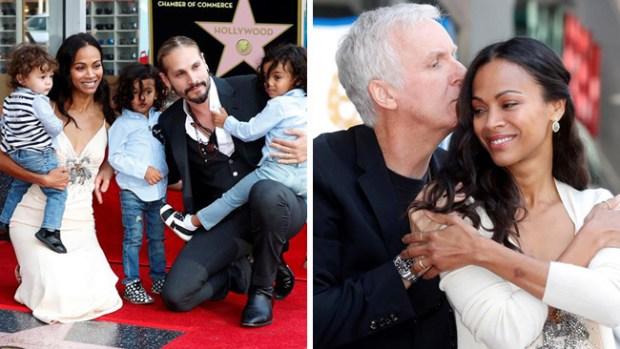 Zoe Saldaña recibe emocionada su estrella en el Paseo de la Fama de Hollywood