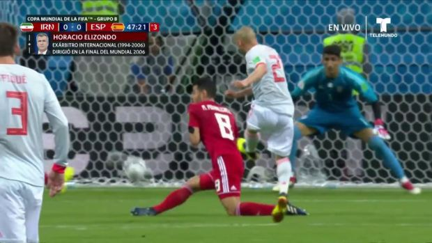[World Cup 2018 PUBLISHED] ¡Apenas desviado! Remate de David Silva despierta a las barras