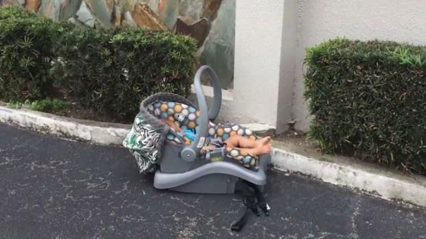 Camarógrafo halla bebé abandonado