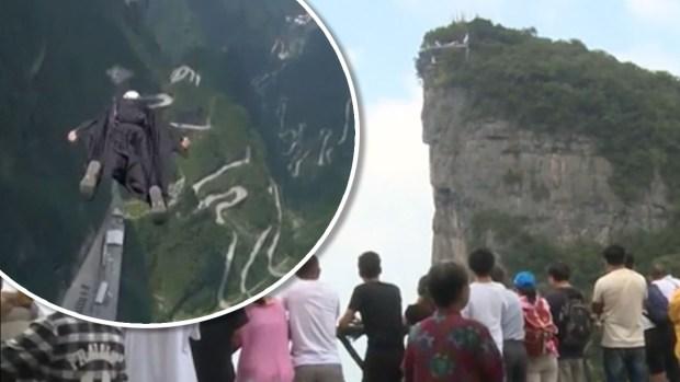 [TLMD - NATL] Alucinante video: se lanzan a mil pies de altura solamente con unos trajes con alas