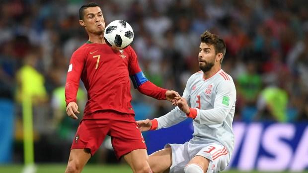 A los tres minutos, Portugal grita gol