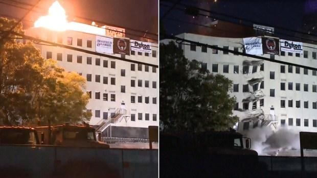 [TLMD - NATL] Impresionante explosión: viejo edificio de Atlanta queda en escombros