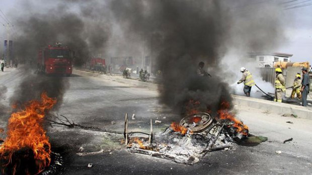 Video: Atacan base militar de Kabul