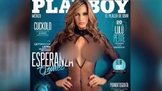 Video: Actriz porno revienta portada de Playboy