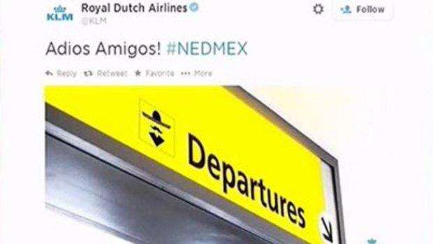 Video: La aerolínea KLM se burla del Tri
