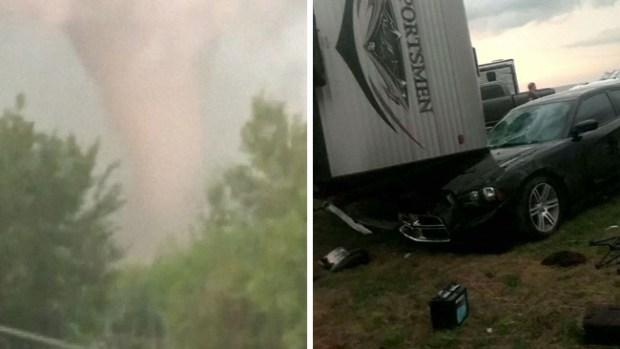 Anciano muere tras el paso de un inclemente tornado