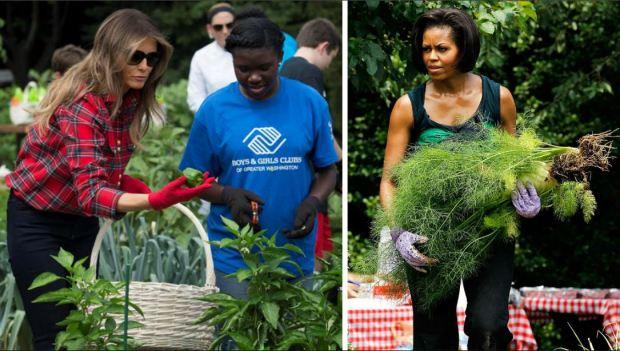 El huerto que creó Michelle Obama, ahora bajo la tutela de Melania Trump