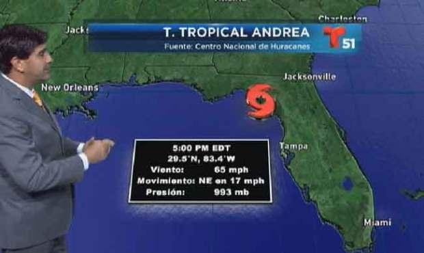 Video: La tormenta Andrea toca tierra