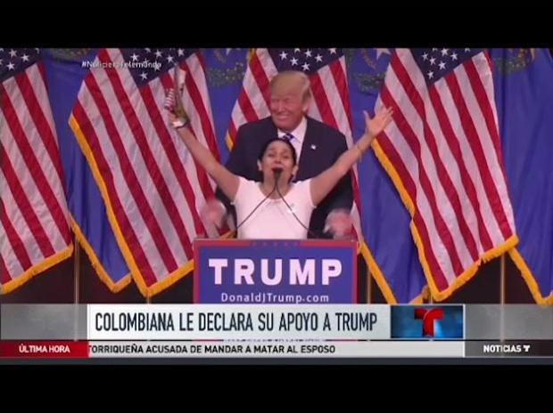 Colombiana profesa su apoyo a Trump