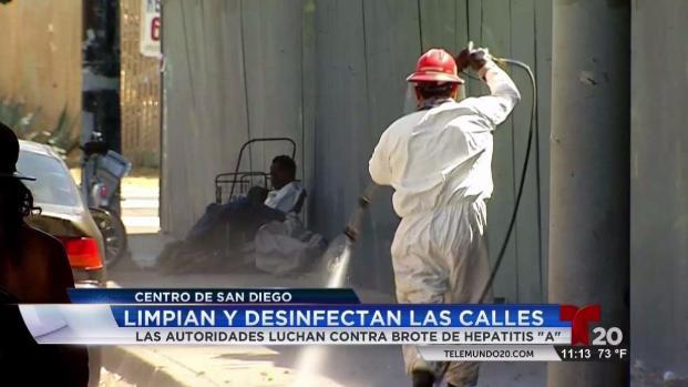 [TLMD - SD] Comienzan a desinfectar las calles contra infección